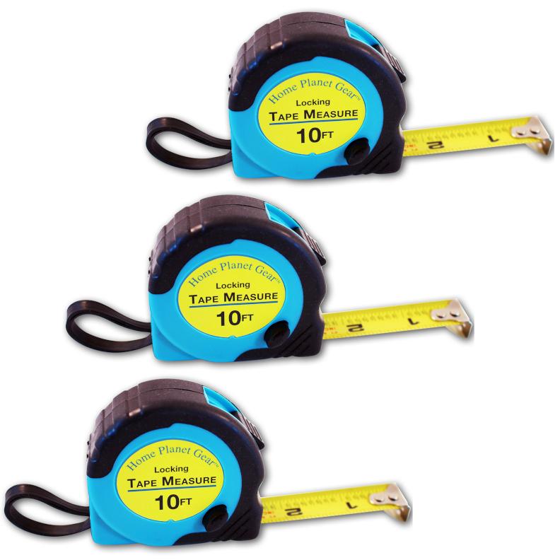 Three Pack Tape Measures Set